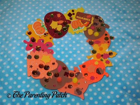 paper plate thanksgiving wreath craft parenting patch