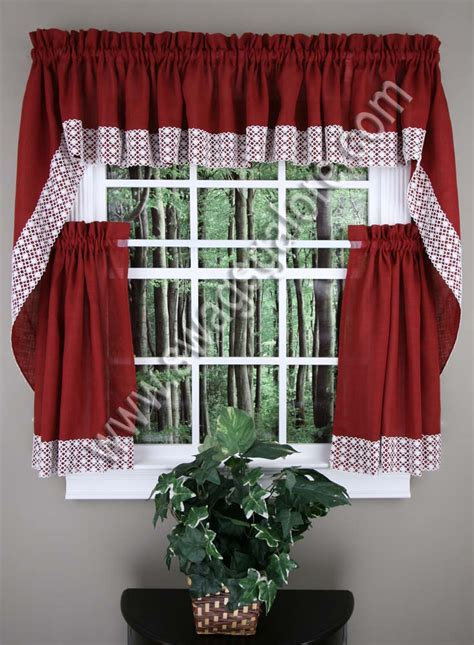 salem kitchen curtains burgundy lorraine country