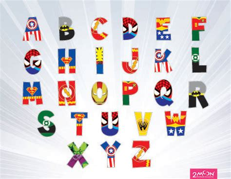 printable superhero font 9 best images of free printable superhero letters
