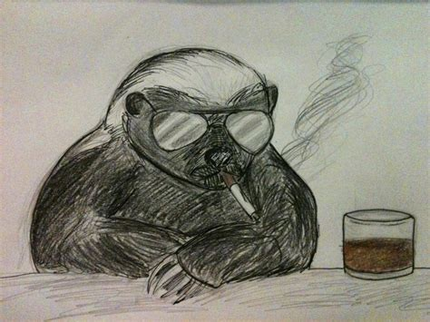 honey badger don t care by lennonscented on deviantart