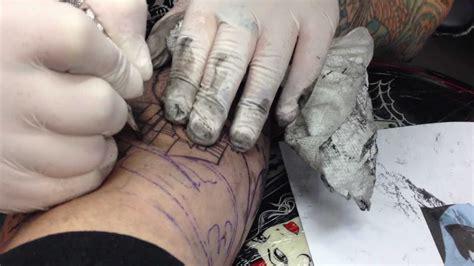 tattoo needle gets stuck batman tattoo evil by needle youtube