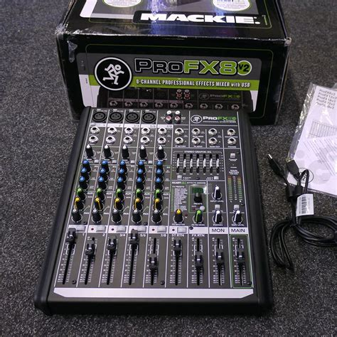 mackie profx8 mixer with box 2nd rich tone