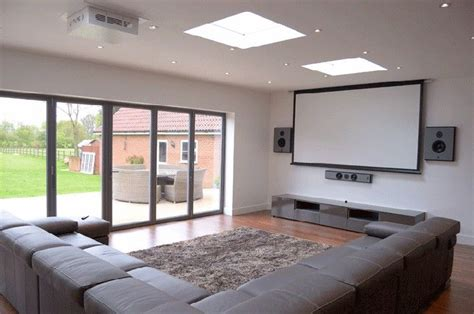 living room projector install a projector and big screen in your living room to