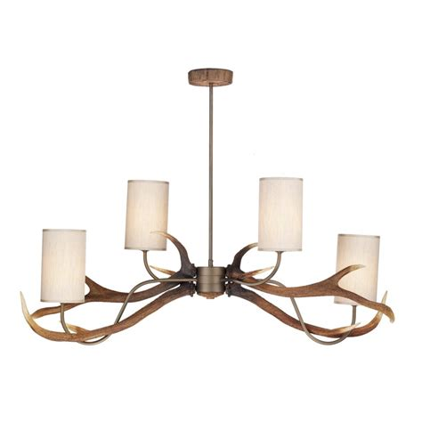 Antler Ceiling Light David Hunt Ant0429 Ceiling Pendant Antler 4 Light Ceiling Light