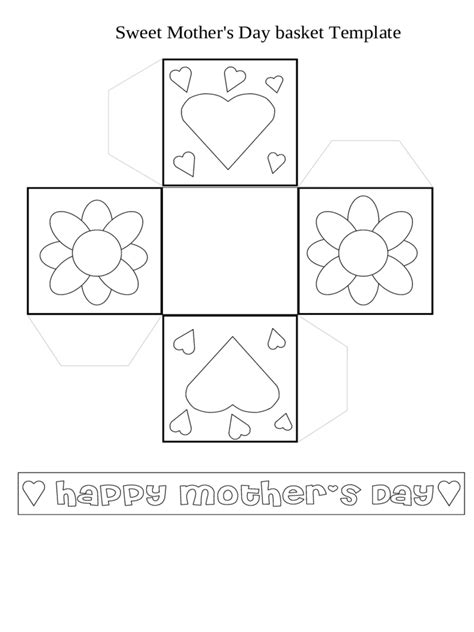 card basket template 2018 s day crafts fillable printable pdf forms