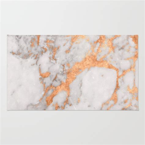 Polyester Area Rugs Copper Marble Rug By Tamsin Lucie Society6