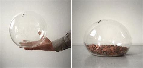 Home Design Do S And Don Ts Transparent Glass Piggy Bank Bubble Bank By Leon
