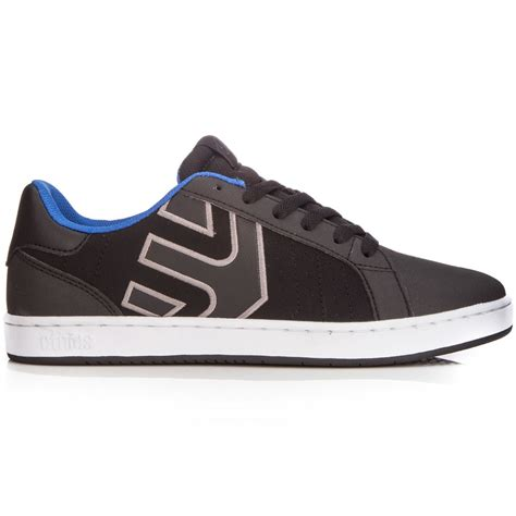 black and silver ls etnies fader ls shoes black grey
