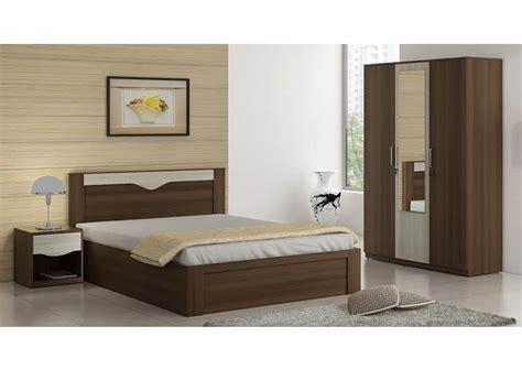 spacewood crescent bedroom set queen storage bed  door wardrobe  mirror side table