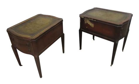 Antique Side Tables For Living Room Leather Top Side Table With Drawers Olde Things