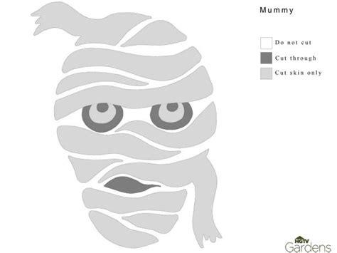 Mummy Jack O Lantern Template