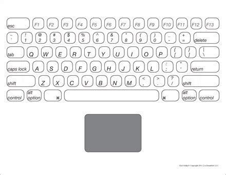 coloring pages keyboard computer 7 best images of printable laptop keyboard printable
