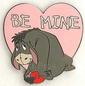 valentines eeyore le disney auction pin eeyore winnie the pooh 100 acre be