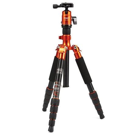 Tripod Fotopro X4i E fotopro x4i e 5 section aluminum tripod with fph 42q orange