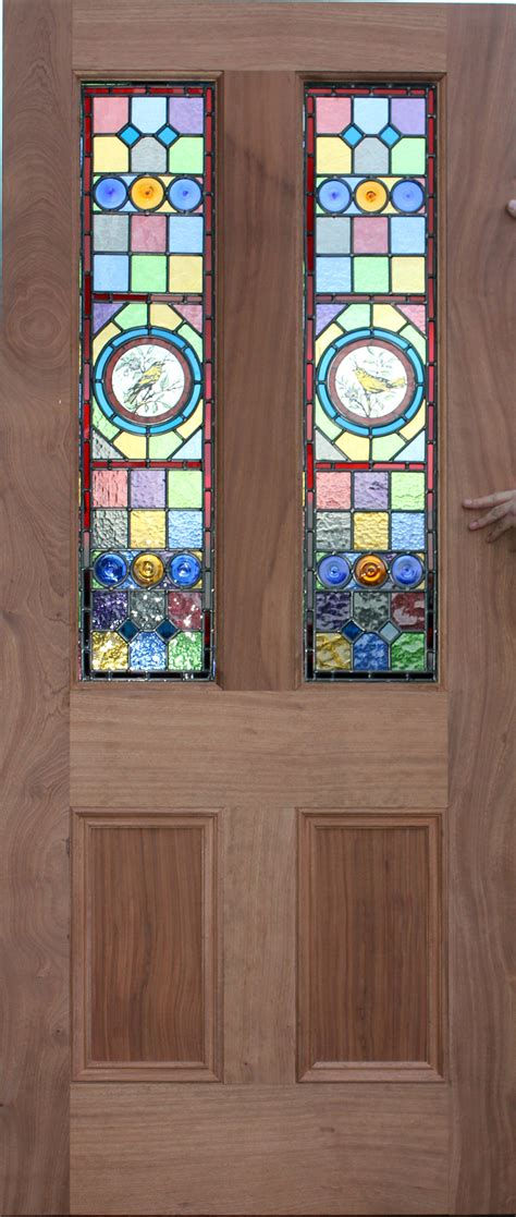Stained Glass Door Classic Hardwood Door