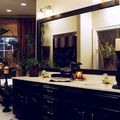 decorate bathroom mirror how to decorate a large plain bathroom mirror 5 ideas for