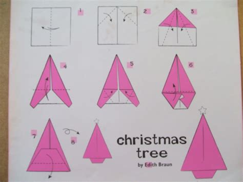 easy origami step by step christmas decorations simple origami trees the craft fantastic