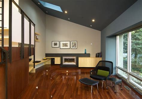 4 stylish homes with slanted ceilings good looking sloped ceiling lighting with modern fireplace