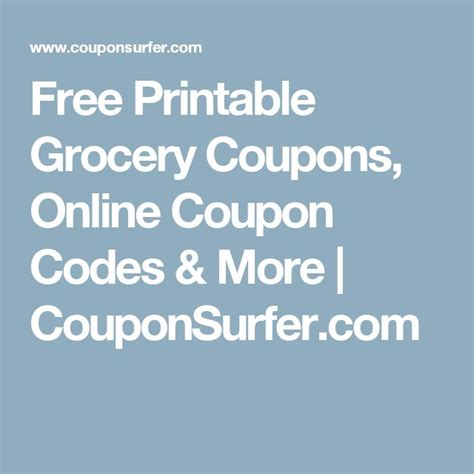 best free online printable grocery coupons best 25 free printable grocery coupons ideas on pinterest