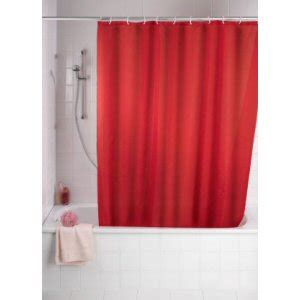 Red Anti Mould Shower Curtain Bathroom Trends