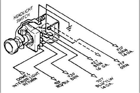 1965 c10 headlight switch wiring diagram get free image