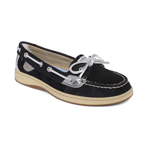 sperry top sider s angelfish boat shoes in black