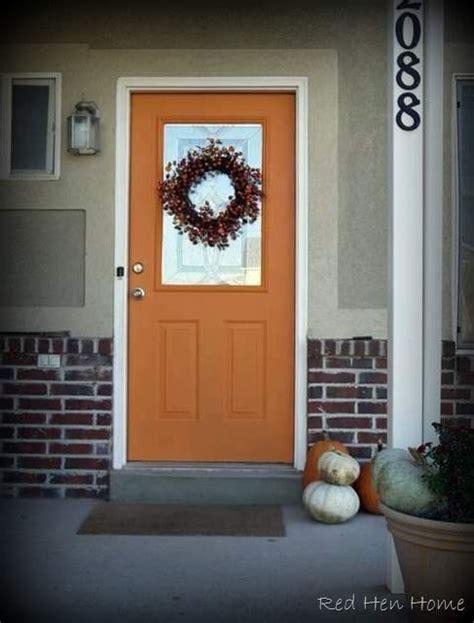 orange front door orange front door my white picket fence pinterest