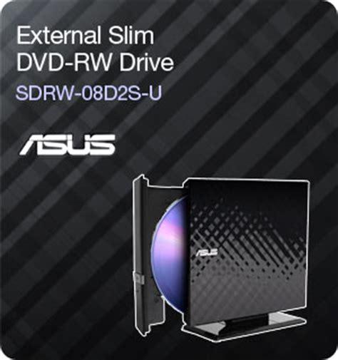 Asus Dvd Rw Sdrw 08d2s External asus 8x external slim dvd rw drive sdrw 08d2s u retail black computers