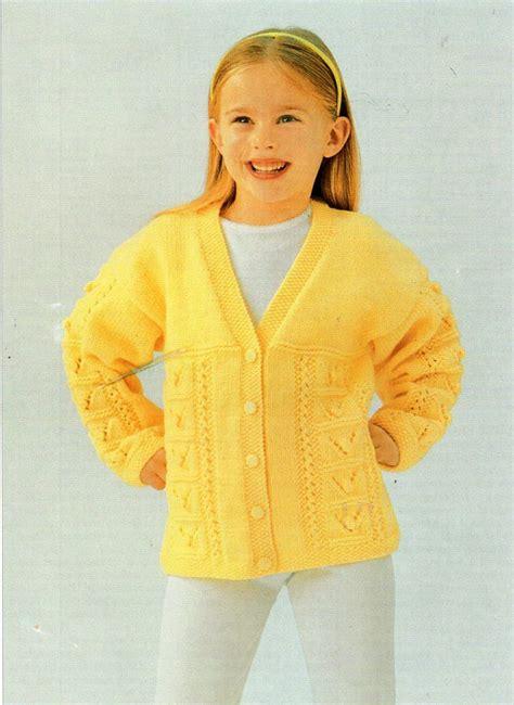knitting pattern girl cardigan childrens cardigan knitting pattern pdf download girls v