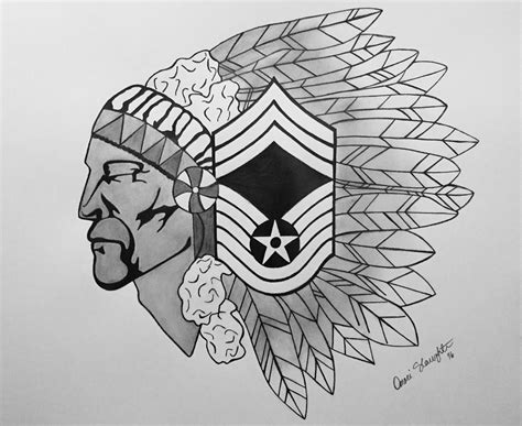 air force chief master sergeant drawing by omari slaughter