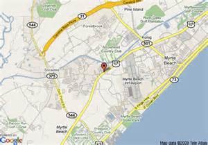 us map myrtle sc map of 8 motel myrtle back gate area myrtle