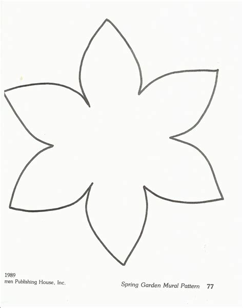 Flower Paper Craft Template - flower template preschool http squishideasforpreschool