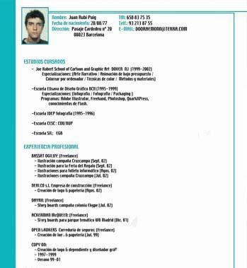 Modelos De Curriculum Vitae Tener Experiencia Laboral curriculum v 237 tae simple modelo de curriculum