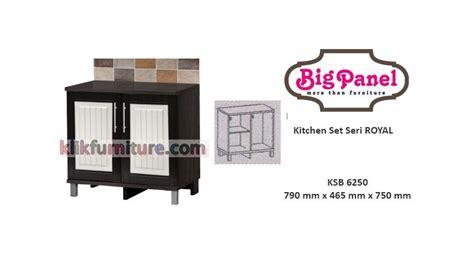 Kitchen Set 2 Pintu Atas Dan Bawah 2662 42 kitchen set bawah 2 pintu ksb 6250 royal bigpanel