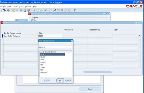 java themes edit oracle apps dba how to change form interface colour in