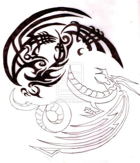 phoenix and dragon tattoo and yin yang ideas 1