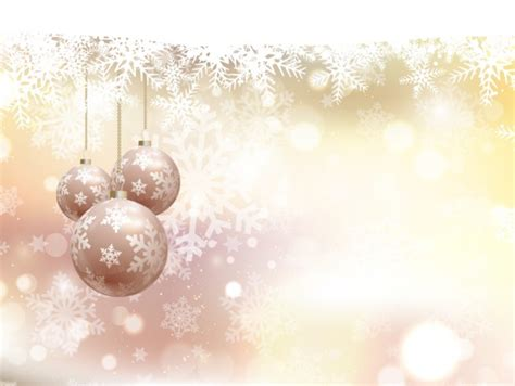 abstract christmas background with baubles vector free