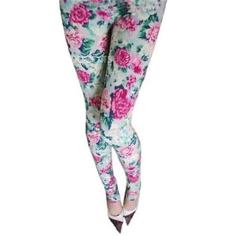 cotton patterned tights cotton ladies winter boho grey rose floral patterned print