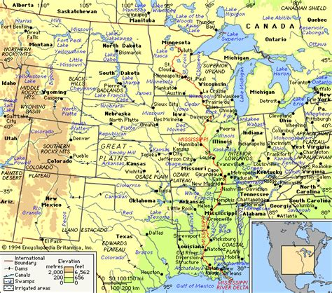 mississippi in usa map usa geography