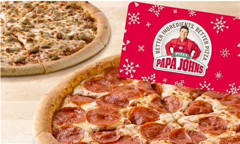 Free Papa John S Gift Card - papa johns 25 gift card three free pizzas only 25