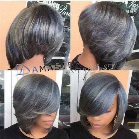 quick weave bob hairstyles grey bob quick weave bob styles pinterest grey