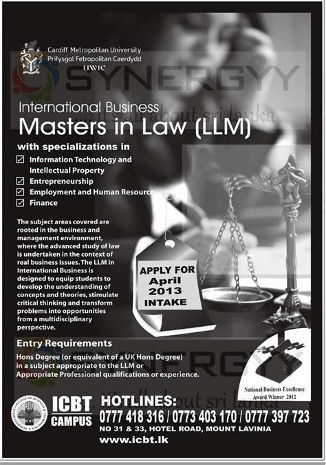 Icbt Mba Sri Lanka by Master In Llm Degree Programme By Icbt Sri Lanka