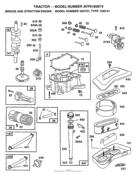 parts diagram for briggs stratton engine ayp electrolux ayp8186b79 1997 parts diagram for engine