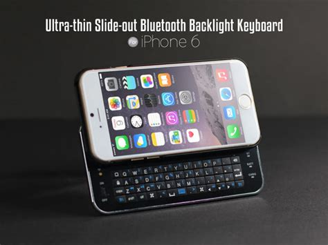 iphone 6 6s ultra thin slide out bluetooth backlight keyboard