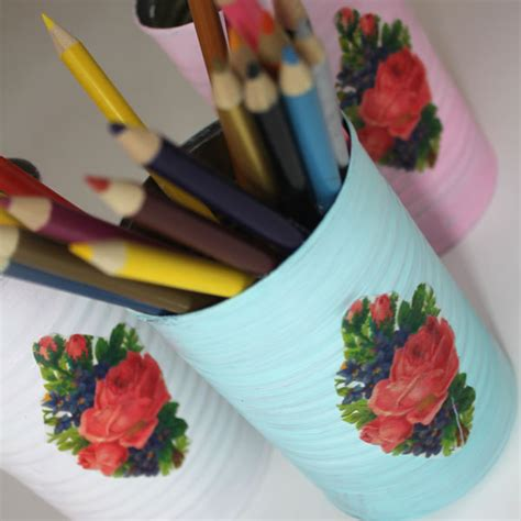 printed tissue paper for decoupage diy decoupage cans with printed tissue paper the
