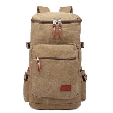 Fashion Casual Backpack Khaki e6643 kono multifunctional 45l outdoor hikking
