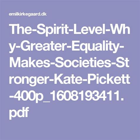 the spirit level why greater equality makes societies stronger 9781608193417 kate pickett 14 best zeigeist images on economics finance and pdf