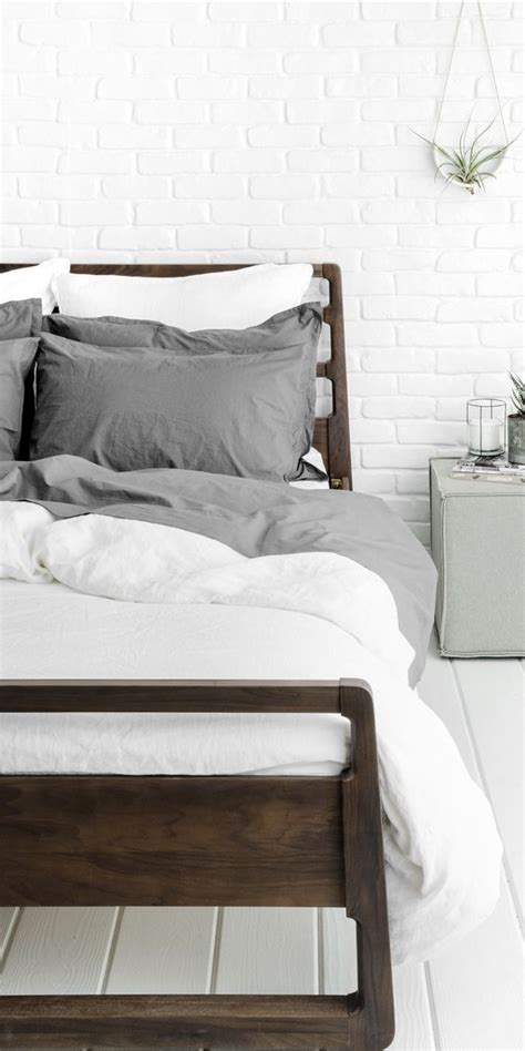 parachute sheets grey cool bed frames and white duvet on pinterest