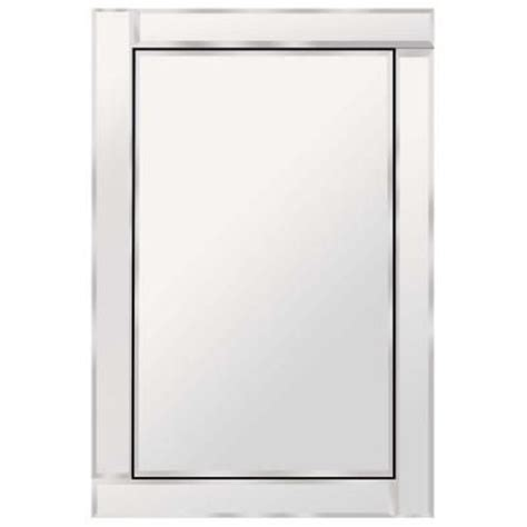 home depot mirrors bathroom glacier bay brazin 31 in x 24 in wall mirror 900240