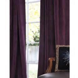 eggplant velvet curtains signature eggplant velvet 84 inch blackout curtain panel